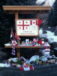 Permanent memorial in Whistler Village, feet from the makeshift memorial. RIP.