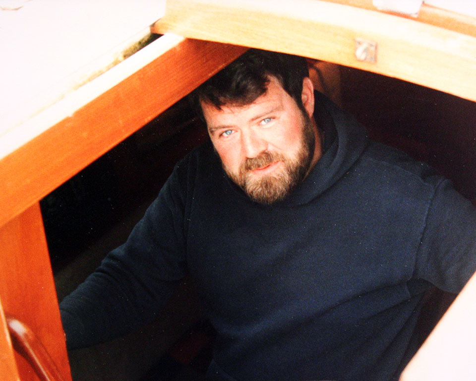 Swan Mossberg in the companionway